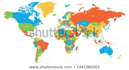 shaded world map vector illustration stock photo © expressvectors