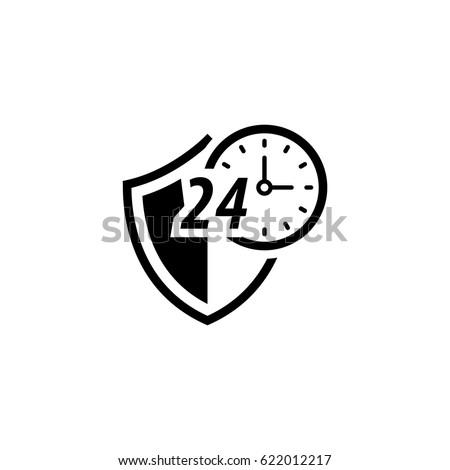 Protegido ícone projeto segurança escudo relógio Foto stock © WaD