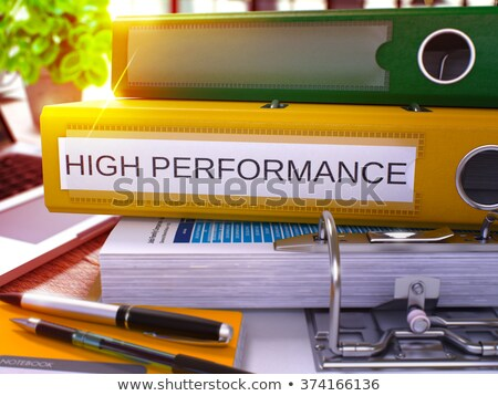 Yellow Ring Binder with Inscription High Performance Stock photo © tashatuvango
