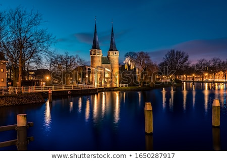 Gate in Delft at evening Stock photo © benkrut