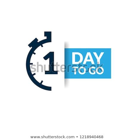 1 месяц дело вектора икона кнопки дизайна Сток-фото © rizwanali3d