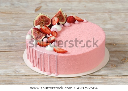 mousse cakes covered with pink glaze stock photo © melnyk