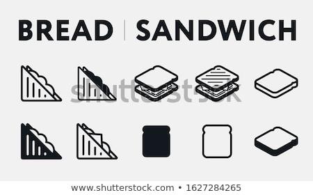 dilimleri · jambon · peynir · biberiye · gıda · ahşap - stok fotoğraf © m-studio