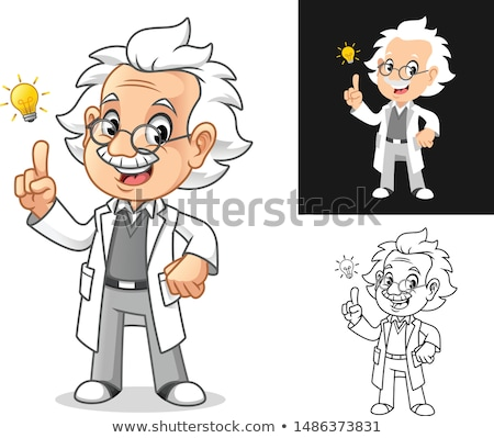 Cartoon профессор Идея иллюстрация студент мужчин Сток-фото © cthoman