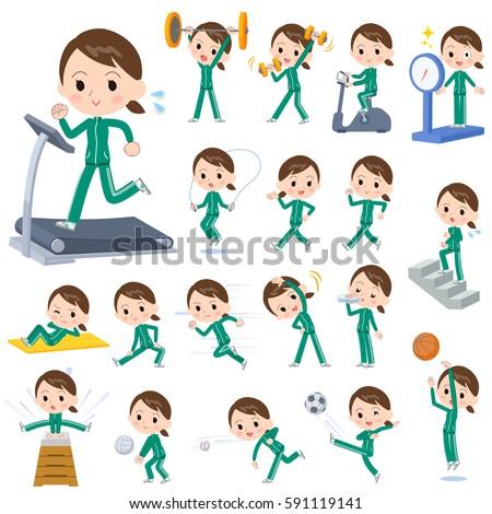 school girl Green jersey Sports & exercise Stock photo © toyotoyo