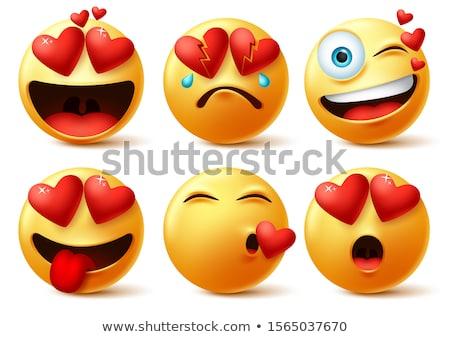 голодный смайлик продовольствие улыбка лице дизайна Сток-фото © yayayoyo