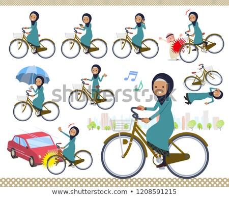 Árabe velho ciclo conjunto mulheres Foto stock © toyotoyo