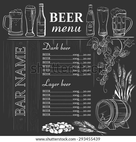 Preto cerveja ilustração arte folhas Foto stock © colematt