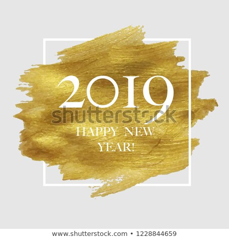 2019 new year poster with golden blot stock photo © adamson