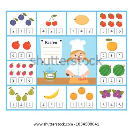 counting children characters educational game Stock photo © izakowski