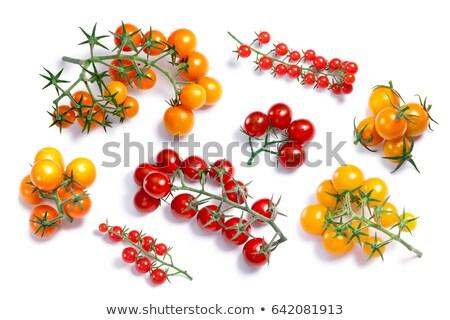 Pile of cherry pachino tomatoes, paths Stock photo © maxsol7