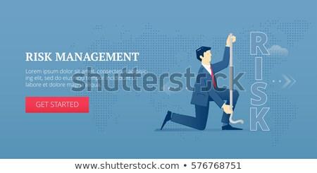 Bannière tête groupe de travail mesure stratégie Photo stock © RAStudio
