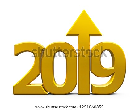 2019 icon compact gold with arrow Stock photo © Oakozhan
