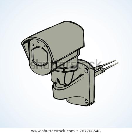 вектора · камеры · безопасности · изолированный · белый - Сток-фото © rastudio