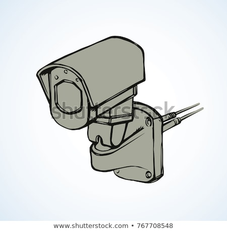 Bewakingscamera schets doodle icon cctv Stockfoto © RAStudio