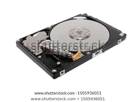 Komputera dysk twardy elektronicznej budynku laptop Zdjęcia stock © OleksandrO