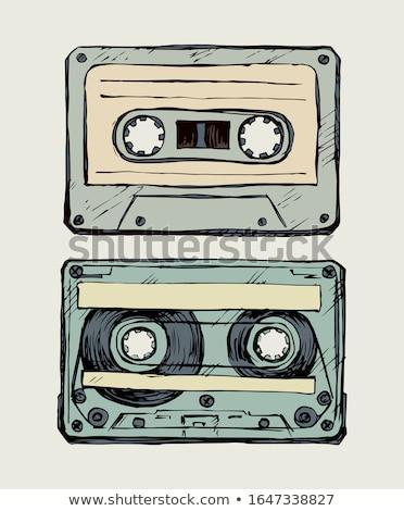 reel tape recorder icon stock photo © angelp