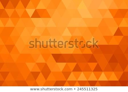 Luminoso arancione triangolo design texture abstract Foto d'archivio © SArts