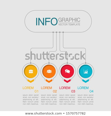 Circle puzzle chart infographic template with 4 options for presentations, advertising, layouts, ann Stock photo © kyryloff