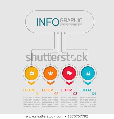Kółko puzzle wykres szablon opcje Zdjęcia stock © kyryloff