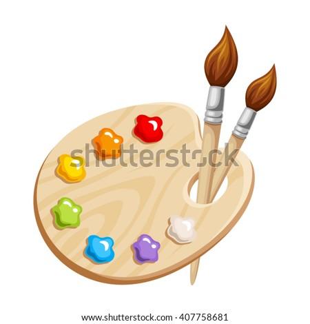 Artista paleta clip-art desenho animado ilustração arte Foto stock © izakowski