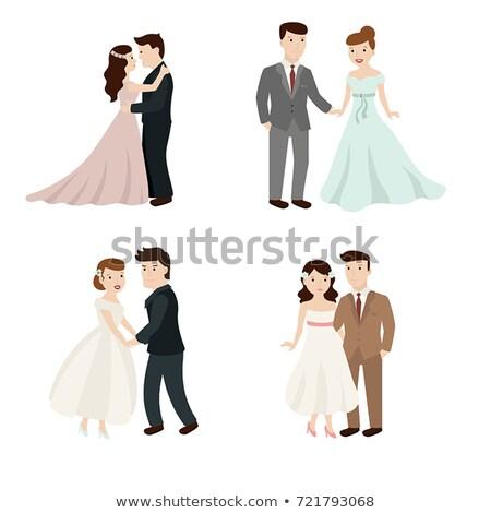 paire · amoureux · coeurs · Valentin · Romance · symbole - photo stock © robuart