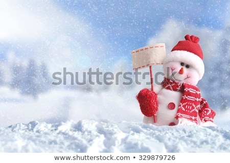 Snowmen Outside Dressed in Hat and Scarf, Holiday Stock photo © robuart