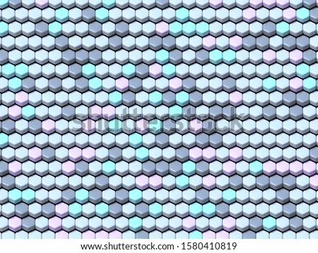Abstract geometric four pastel color Hexagonal tiles background  Stock photo © djmilic