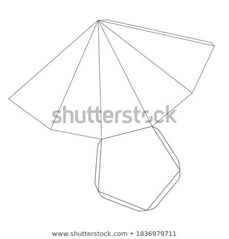 Papel pirâmide modelo cinco branco Foto stock © evgeny89