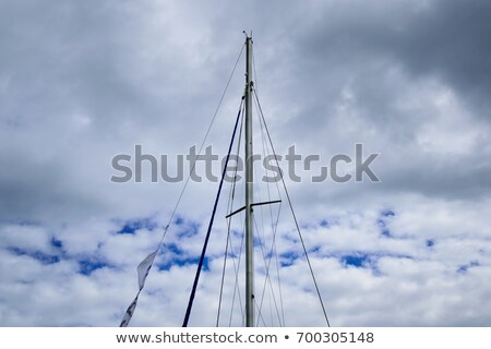 ropes on the mast Stock photo © Hasenonkel