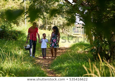 Couple having a picnic in the woods Stock photo © photography33