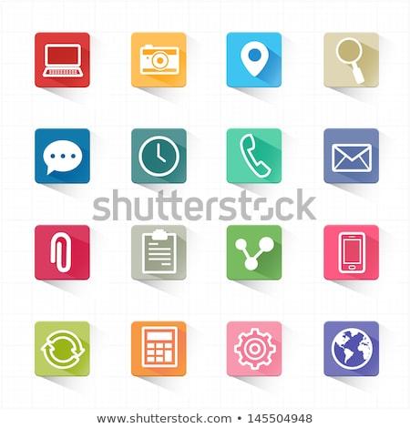 tuiles · utilisant · un · ordinateur · portable · ordinateur · travaux · portable · travailleur - photo stock © iqoncept