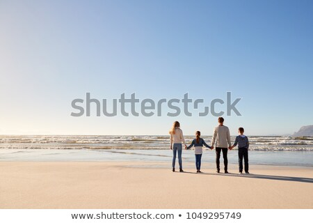 mother with son stand winter stock photo © paha_l