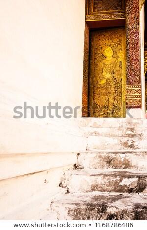 木材 金箔 天使 寺 北方 タイ ストックフォト © nuttakit