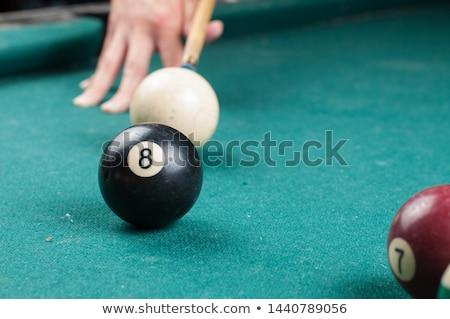 Preto de bilhar bola número oito piscina Foto stock © ozaiachin