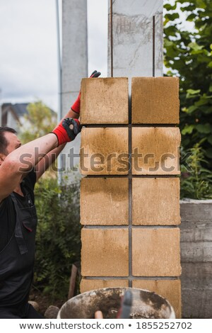 каменщик каменные стены здании человека строительство Сток-фото © photography33