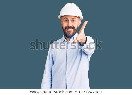 лысые архитектора предлагающий заседание рукопожатие работник Сток-фото © photography33