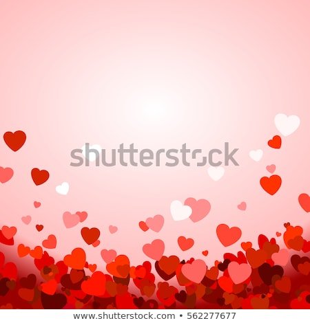 red shiny vector heart for valentines day on pink background stock photo © experimental