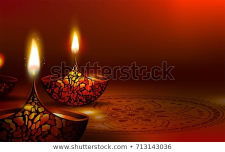 Résumé sombre diwali lumière lampe Photo stock © rioillustrator
