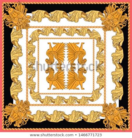 descobrir · dourado · leão · ouro · quadro - foto stock © victor1978