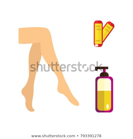Well-groomed female legs after depilation procedure. Stock photo © Nobilior
