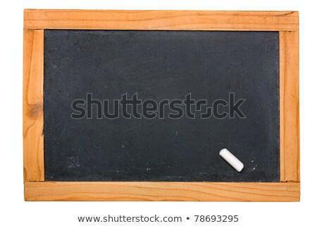 Stockfoto: Lege · klein · schoolbord · ouderwets · geïsoleerd