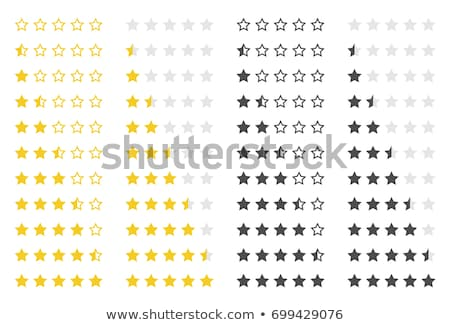 Colorful rating stars set Stock photo © make