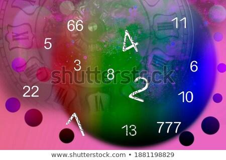 número · vetor · um · fonte · luz - foto stock © gubh83