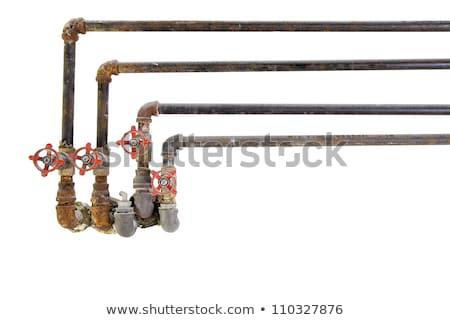 孤立した · 壊れた · 配管 · バルブ · パイプ · 白 - ストックフォト © zhukow