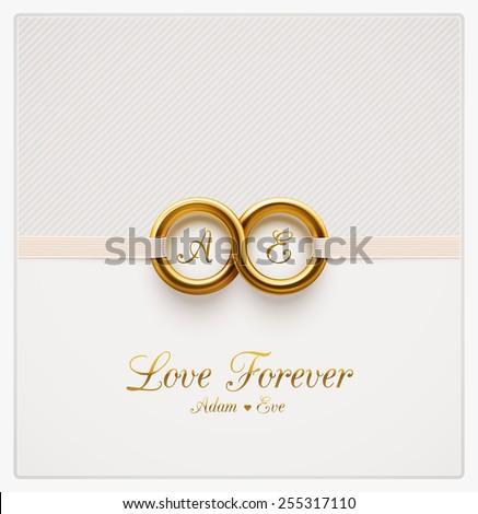 обручальными кольцами карт текста белый свадьба любви Сток-фото © Grazvydas