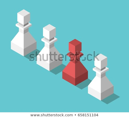 Different colored unique pawns isolated Stock photo © michaklootwijk