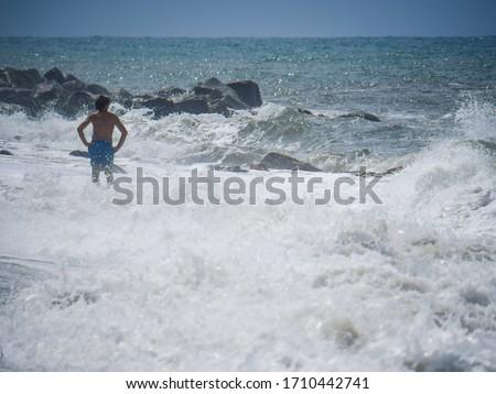 волны белый волна гребень Storm Сток-фото © meinzahn