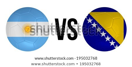 Argentinië vs groep fase wedstrijd tegenover Stockfoto © smocker03