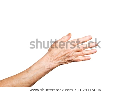 old hands isolated on white background stock photo © nejron